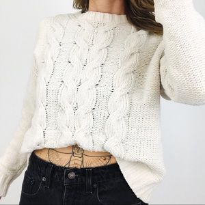AEO Cable-Knit Chenille Sweater